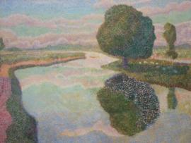 Toorop, Landschap met vaart (de kastanjeboom)