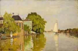Monet, Huizen aan de Achterzaan