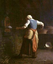 Millet, Broodbakkende vrouw