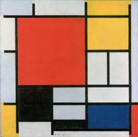 Mondriaan, Compositie met rood, geel, blauw en zwart