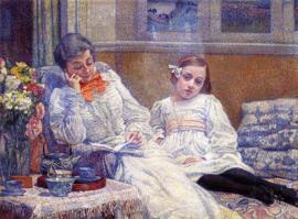 Van Rysselberghe, Madame Théo van Rysselberghe en haar dochter
