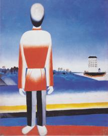 Malevich, Man in suprematisch landschap