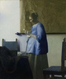 Vermeer, Brieflezende vrouw in het blauw