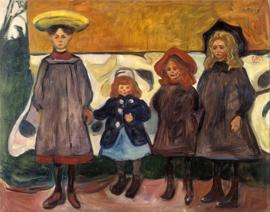 Munch, Vier meisjes in Asgardstrand