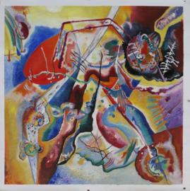 Kandinsky, Beeld met rode plek, ingelijst