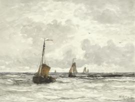 Mesdag, Vissersschepen in de branding