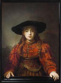 Rembrandt, Meisje in een schilderijlijst