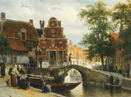 Springer, Gezicht op Franeker met het Zakkendragershuisje