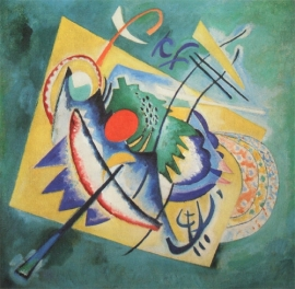 Kandinsky, rood ovaal