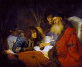 Flinck, Isaac zegent Jacob