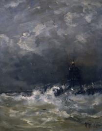 Mesdag, Vuurtoren in de branding