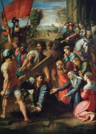 Rafaël, Christus valt onder het kruis