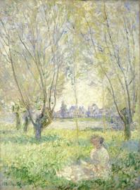 Monet, Zittende vrouw onder de wilgen