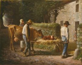 Millet, Boeren met een pasgeboren kalf