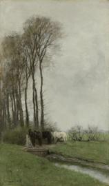 Mauve, Paarden bij het hek