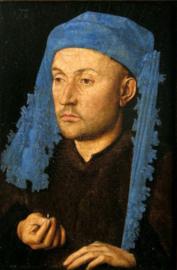 Van Eyck, Man met blauwe kaproen