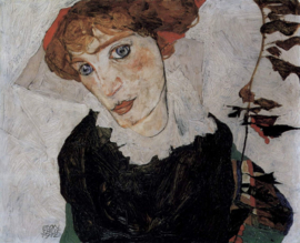 Schiele, Portret van Wally