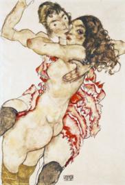 Schiele, Omarmende vrouwen