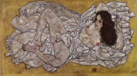 Schiele, Liggende vrouw