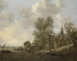 Van Goyen, Gezicht op een dorp aan een rivier