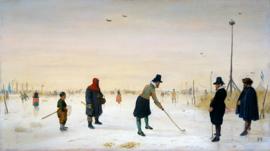 Avercamp, Golfers op het ijs