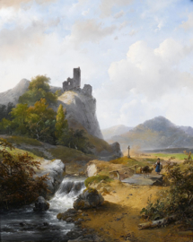 Schelfhout, Duits landschap met ruïne