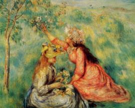 Renoir, Bloemplukkende meisjes in een weiland