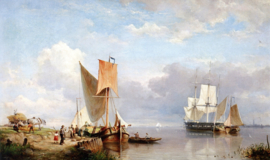 H. Koekkoek, Scheepvaart op de Spaarne