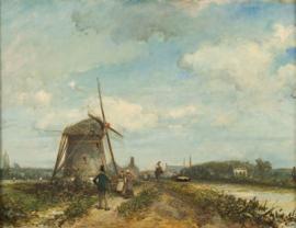 Jongkind, Jaagpad aan de trekvliet bij Den Haag