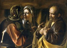 Caravaggio, De ontkenning van Petrus