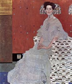 Klimt, Portret van Fritza Riedler