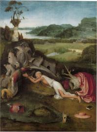 Bosch, Heilige Hieronymus in gebed