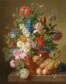 Van Dael, Stilleven met rozen en andere bloemen