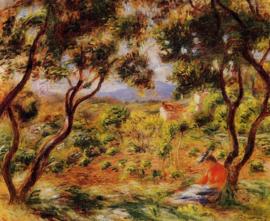 Renoir, De wijngaarden van Cagnes