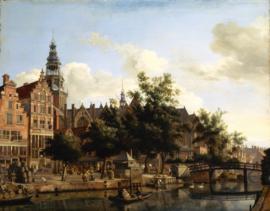 Van der Heyden, De bierkaai en Oude kerk in Amsterdam