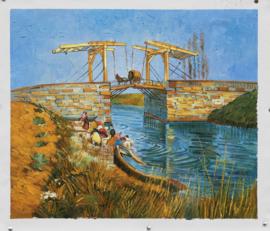 Van Gogh, Ophaalbrug van Arles met wassende vrouwen