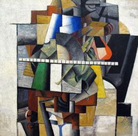 Malevich, Portret van Mikhail Matjuschin