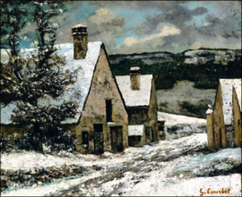 Courbet, Dorpseinde in de winter