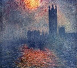 Monet, Het parlement in Londen