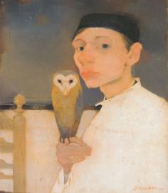 Mankes, Zelfportret met uil