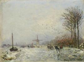 Jongkind, Kanaal in Holland in de winter
