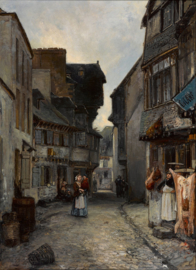Jongkind, Een straat in Landerneau