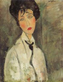 Modigliani, Vrouw met zwarte stropdas