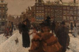 Breitner, De Singelbrug bij de Paleisstraat in Amsterdam