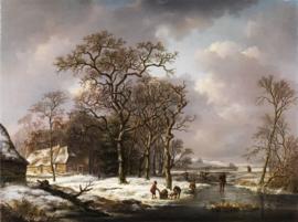 Schelfhout, Mensen in een winterlandschap