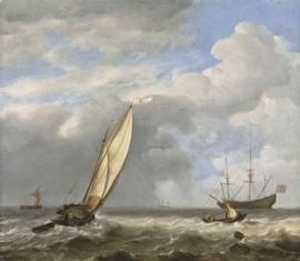 Van de Velde, Een Nederlandse kaag in een lichte bries