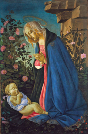 Botticelli, Madonna die het kindje Jezus aanbidt