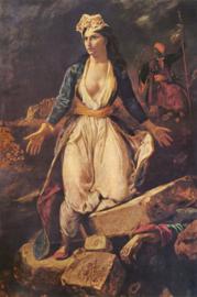 Delacroix, Griekenland, zieltogend op de ruïnes van Missolonghi