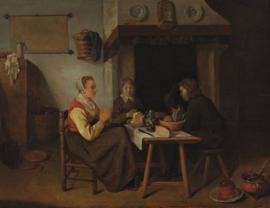 Van Brekelenkam, Het gebed voor de maaltijd
