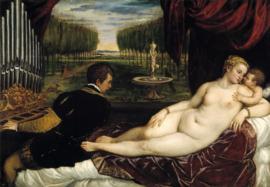 Titiaan, Venus met orgelspeler, Cupido en hond